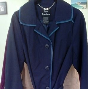 NWOT.... Dennis Basso blue Trench....